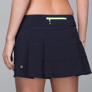 Lululemon Navy Pace Rival Skirt